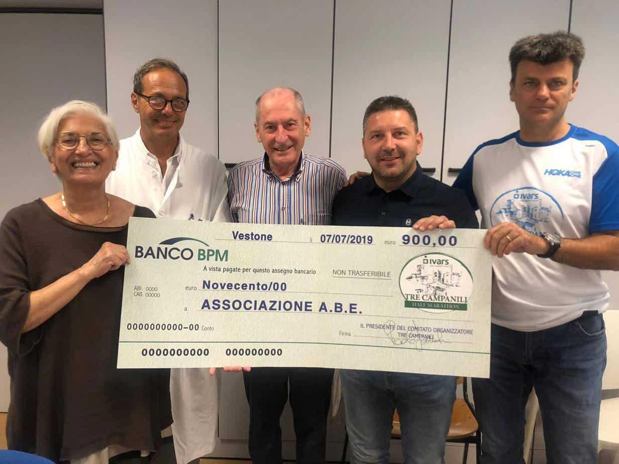 Donazione dalla Maratona Tre Campanili di Vestone