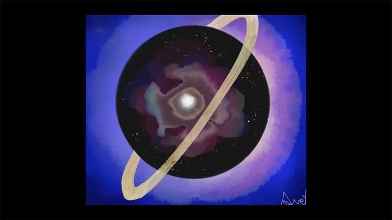 Saturno in uno schizzo – Aurora