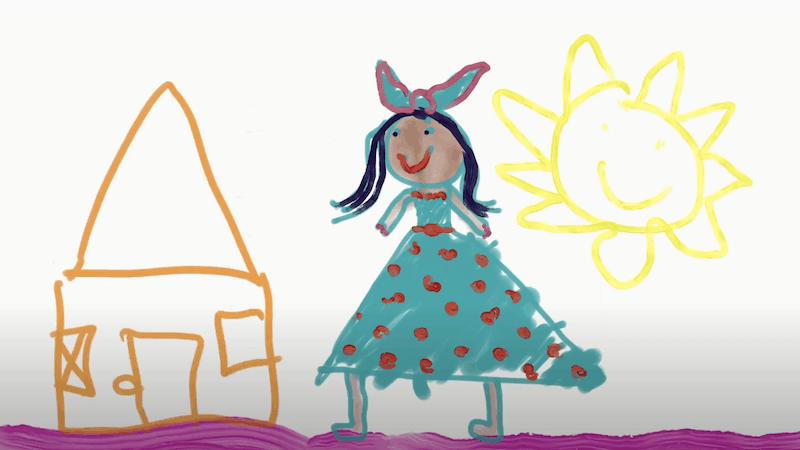 La bambina a casa – Elizabeth 8 anni