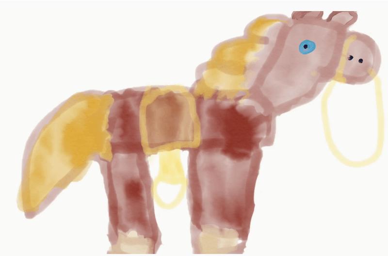 Il mio cavallo Matilde – Giulia S. 5 anni
