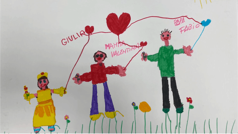 La mia famiglia – Giulia S. 5 anni