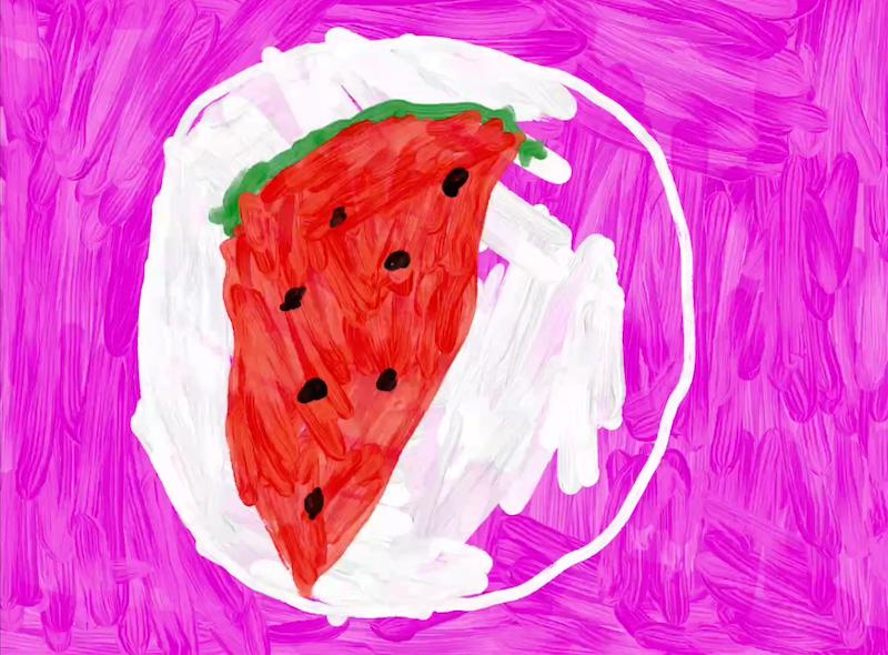 La mia anguria – Nicole 5 anni