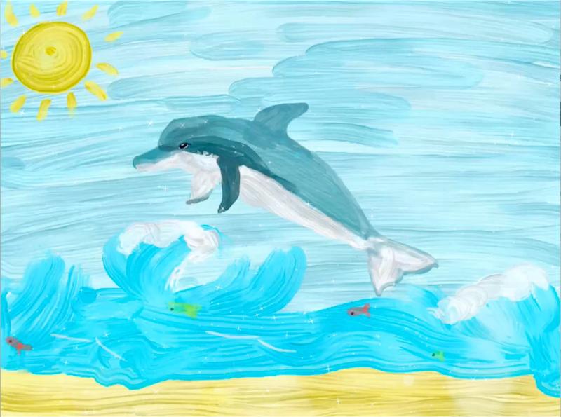 Una nuotata al mare – Benedetta 10 anni